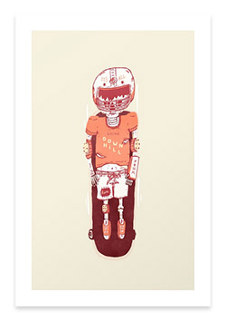 Illustrative wall art at society6.com