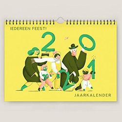 This calendar published yearly by Orbit Vzw and Pelckmans Uitgevers highlights the festive days of not just one, but of all groups and religions. We had the lovely opportunity to create the illustrations for the 2021 edition.