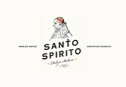 Logo and identity design for Santo Spirito, delicious Italian food & prosecco bar by L'uno Coll'altro.